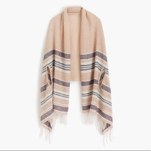 J. Crew Summer weight cape scarf in Mixed Stripe